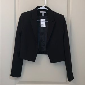 H&M cropped blazer